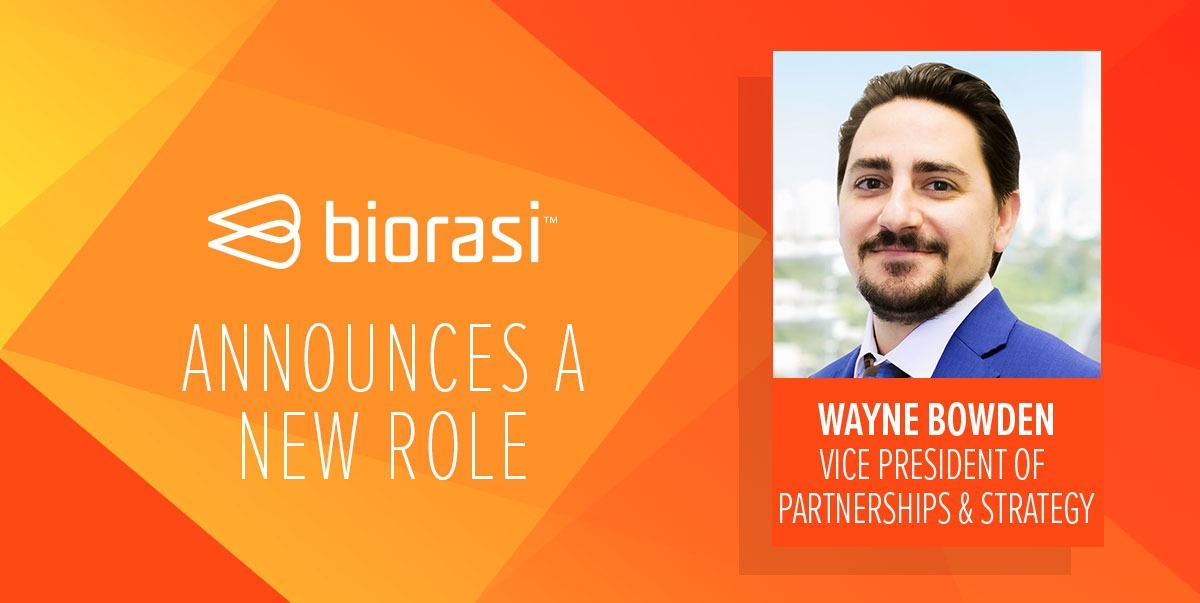 Biorasi Welcomes Wayne Bowden